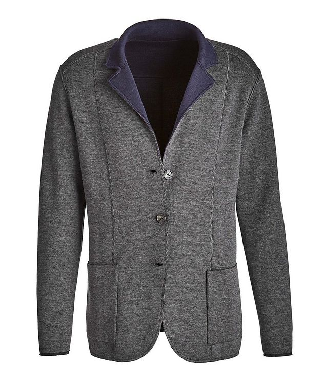 Reversible Knit Wool Cardigan picture 2