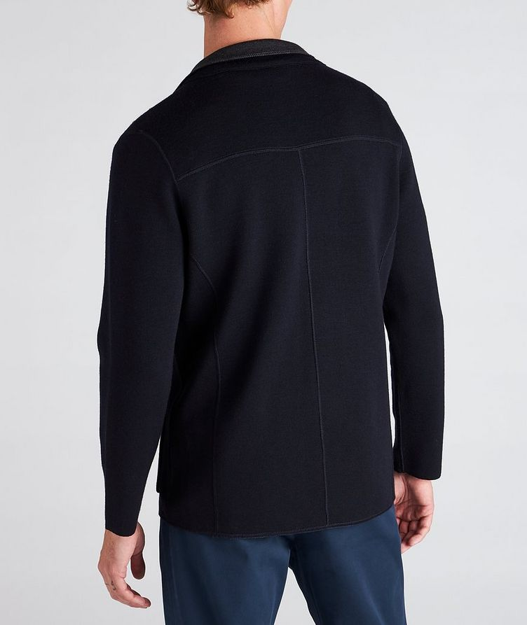 Reversible Knit Wool Cardigan image 2