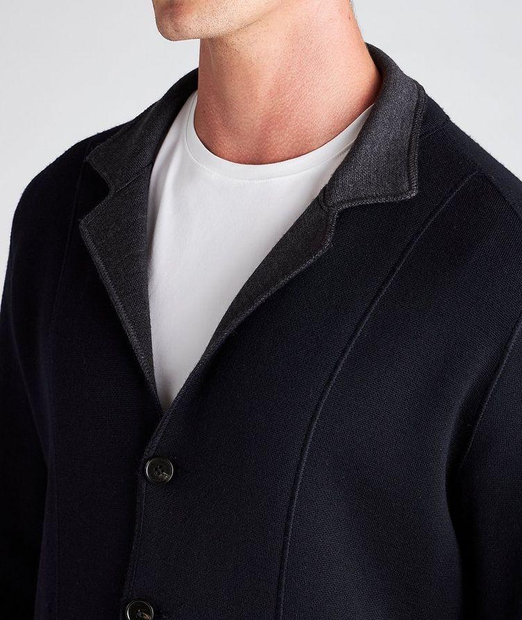 Reversible Knit Wool Cardigan image 3