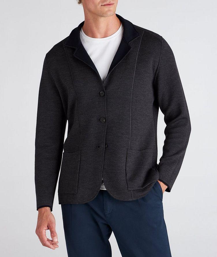 Reversible Knit Wool Cardigan image 4