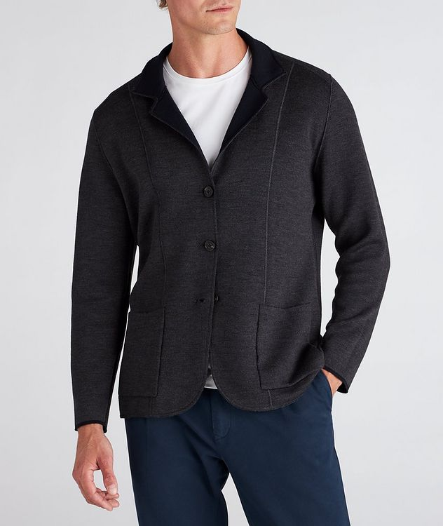 Reversible Knit Wool Cardigan picture 5
