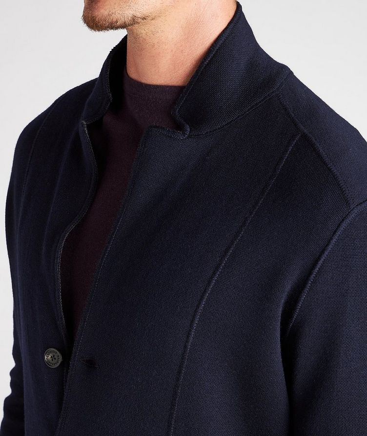Reversible Knit Wool Cardigan image 7