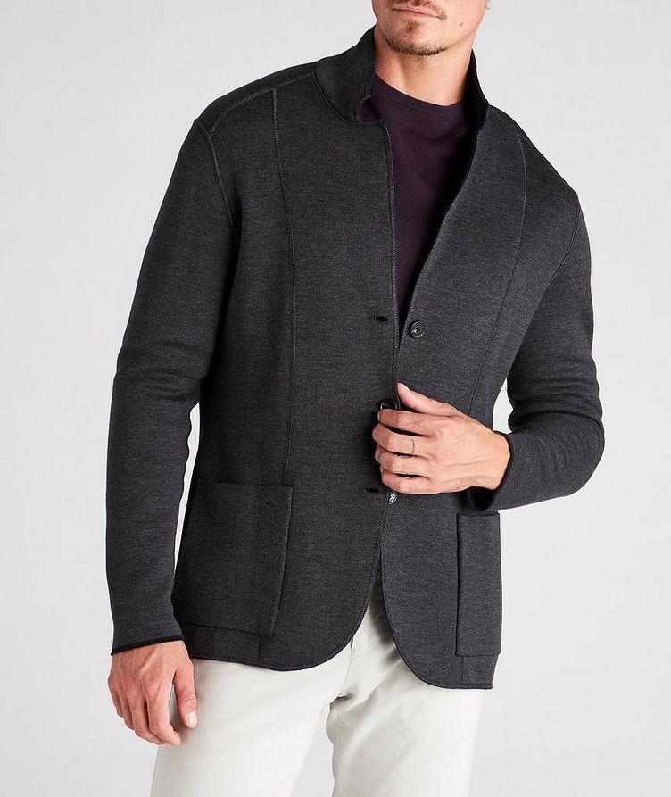 Reversible Knit Wool Cardigan image 8