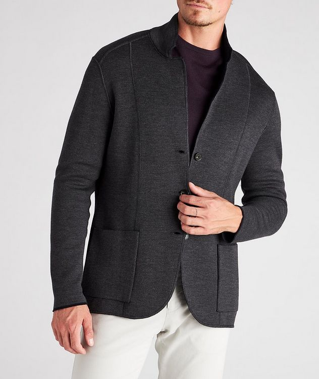 Reversible Knit Wool Cardigan picture 9