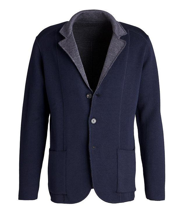 Reversible Knit Wool Cardigan picture 1