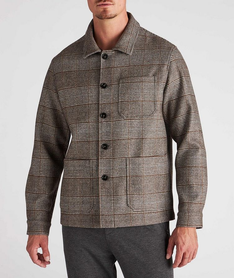 Houndstooth Wool Overshirt image 1