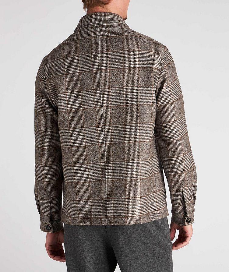 Houndstooth Wool Overshirt image 2