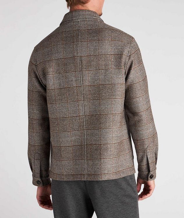Houndstooth Wool Overshirt picture 3