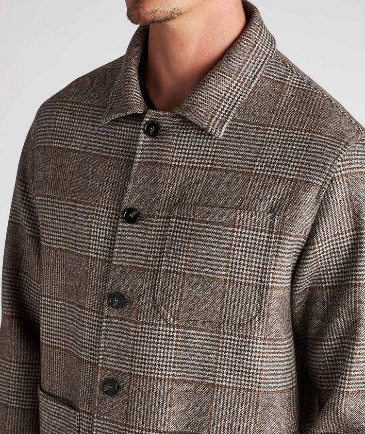 Houndstooth Wool Overshirt image 3
