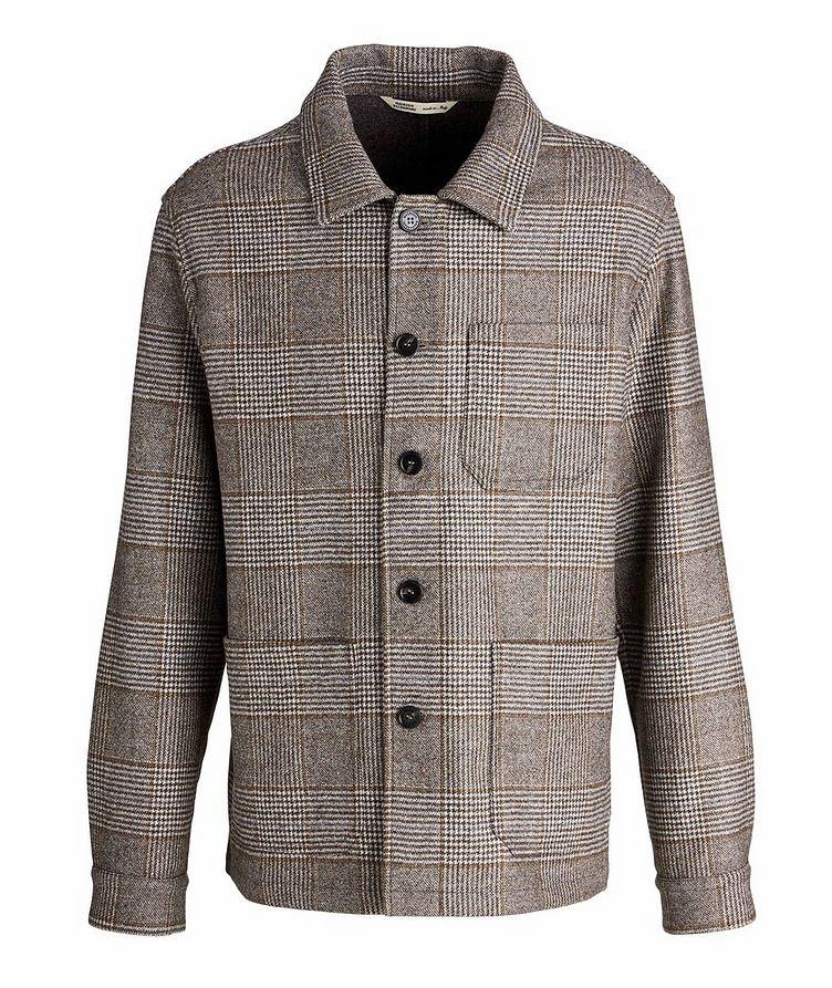 Houndstooth Wool Overshirt image 0