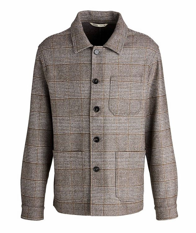 Houndstooth Wool Overshirt picture 1