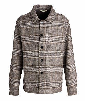 Maurizio Baldassari Houndstooth Wool Overshirt