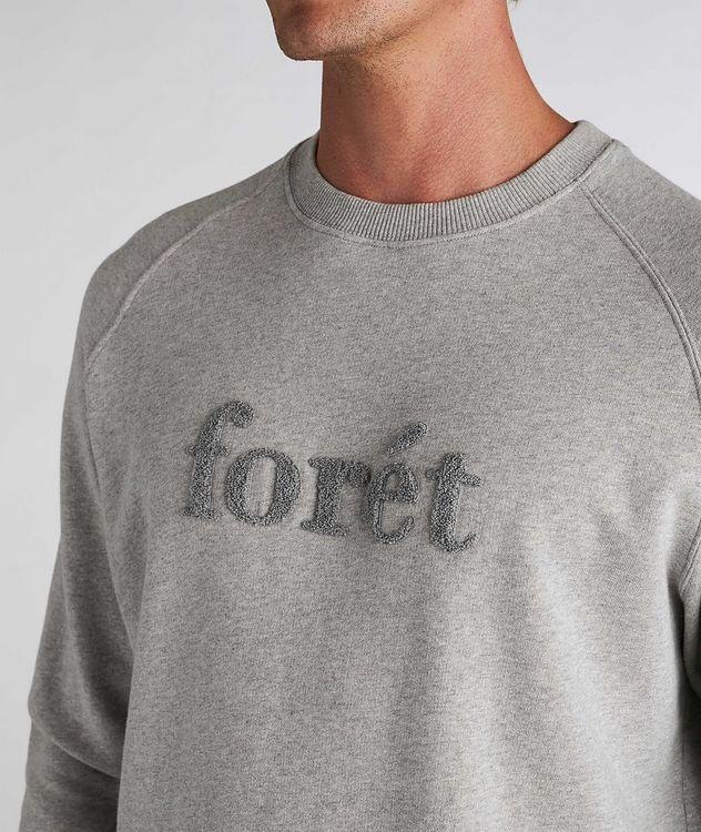 Flock Cotton Crew Neck Sweatshirt picture 4