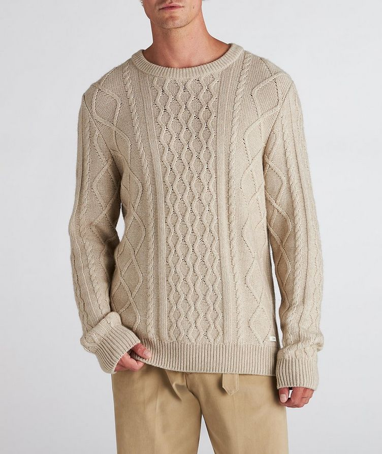 Grow Cable-Knit Wool-Blend Sweater image 1