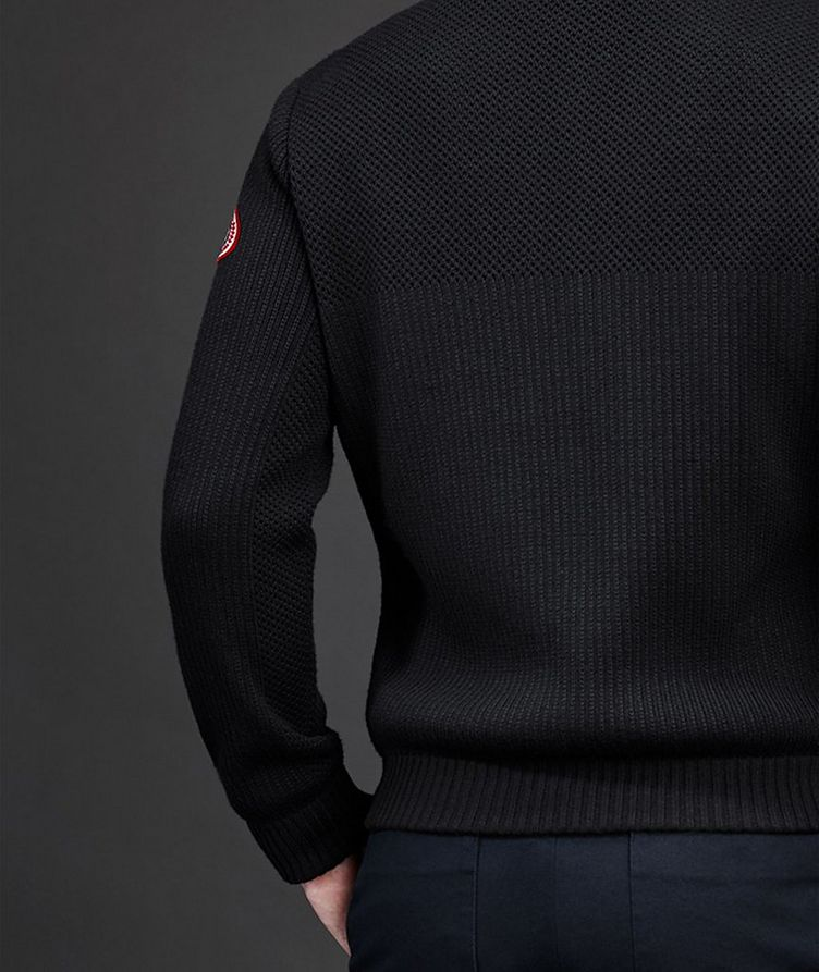 HyBridge Zip-Up Knit Sweater image 3