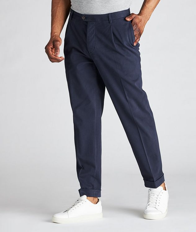 Trevor Stretchy Cotton Pleated Dress Pants  picture 2