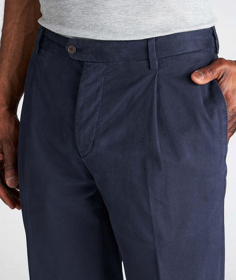 Trevor Stretchy Cotton Pleated Dress Pants  image 3