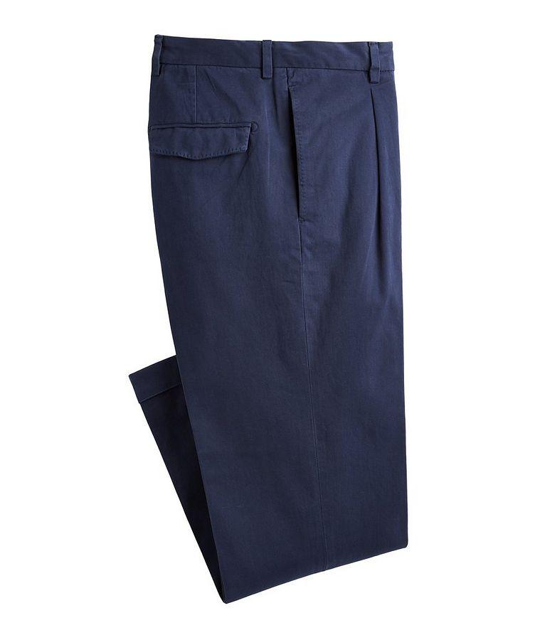 Trevor Stretchy Cotton Pleated Dress Pants  image 0