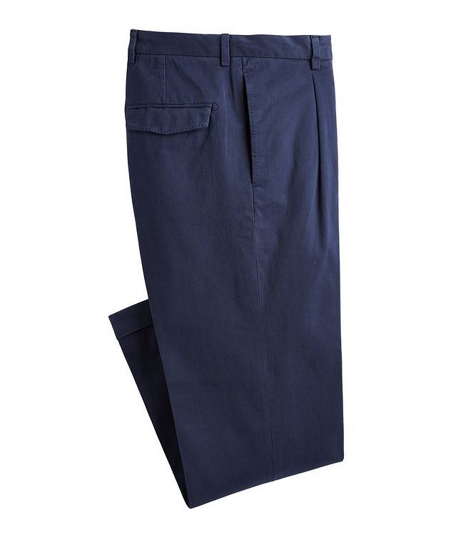 Trevor Stretchy Cotton Pleated Dress Pants  picture 1