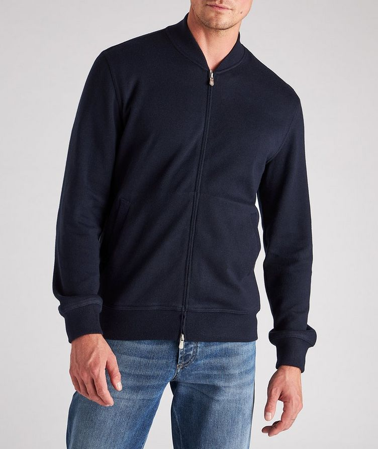 Zip-Up Cashmere-Cotton Sweater image 1