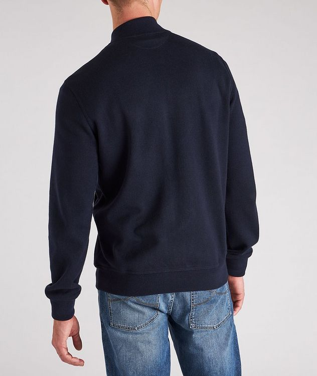 Zip-Up Cashmere-Cotton Sweater picture 3