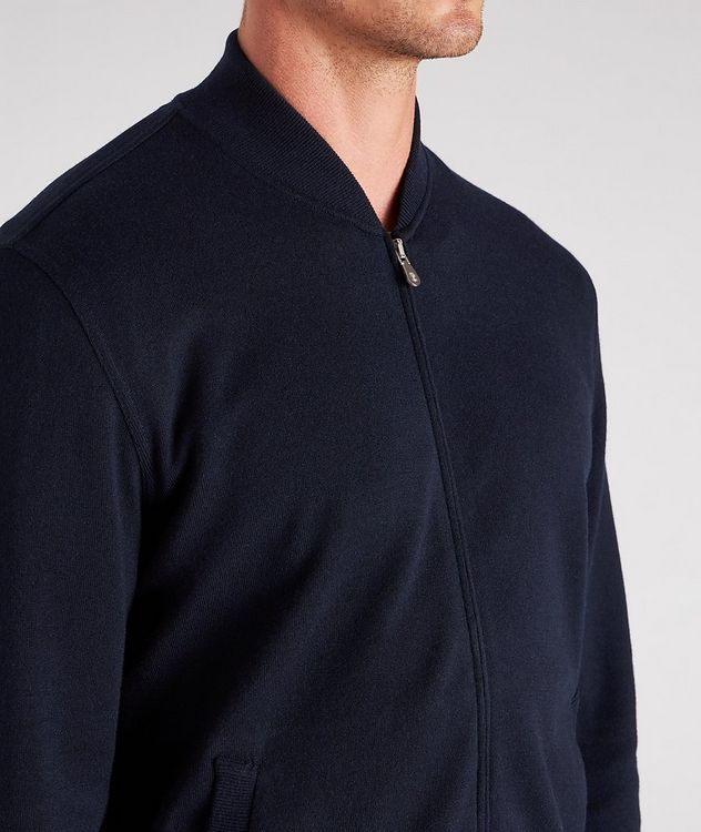 Zip-Up Cashmere-Cotton Sweater picture 4