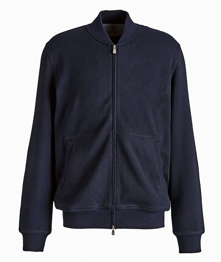 Zip-Up Cashmere-Cotton Sweater image 0