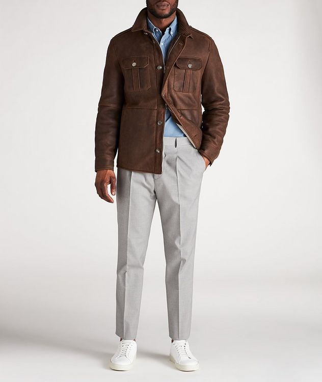 Pantalon habillé en mélange de coton picture 5