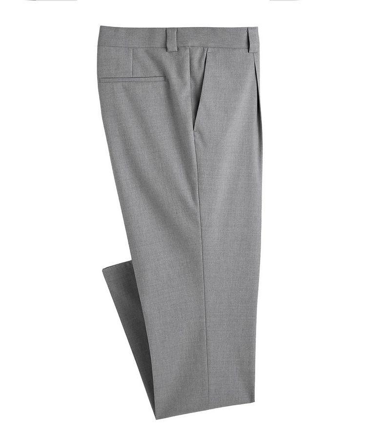 Pantalon habillé en mélange de coton image 0