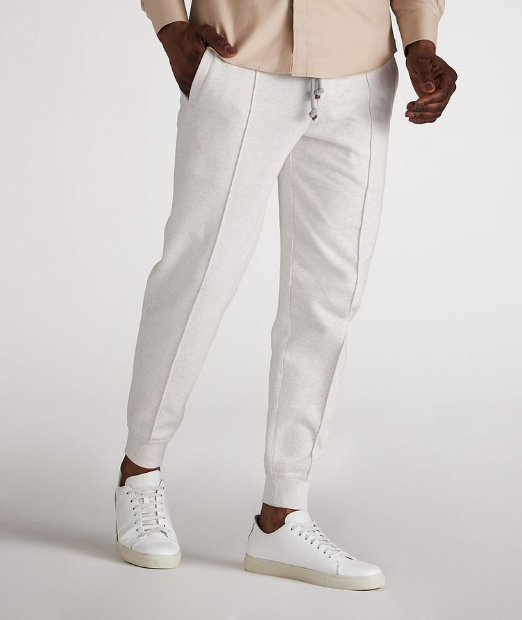 Cotton Pleated Drawstring Joggers image 1