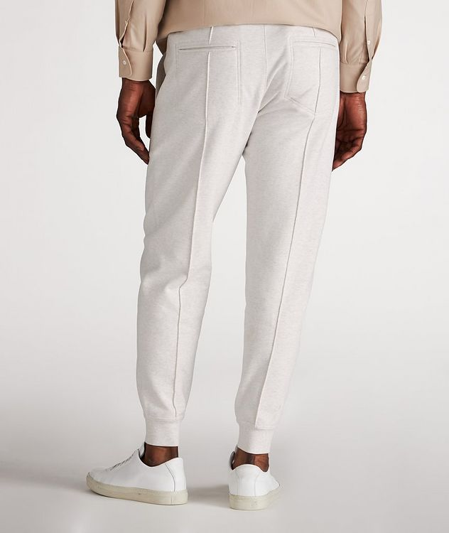 Cotton Pleated Drawstring Joggers picture 3
