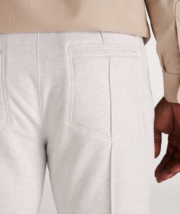 Cotton Pleated Drawstring Joggers picture 4