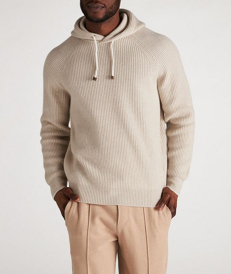 Knitted Cashmere Hoodie image 1