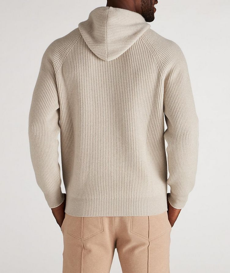 Knitted Cashmere Hoodie image 2