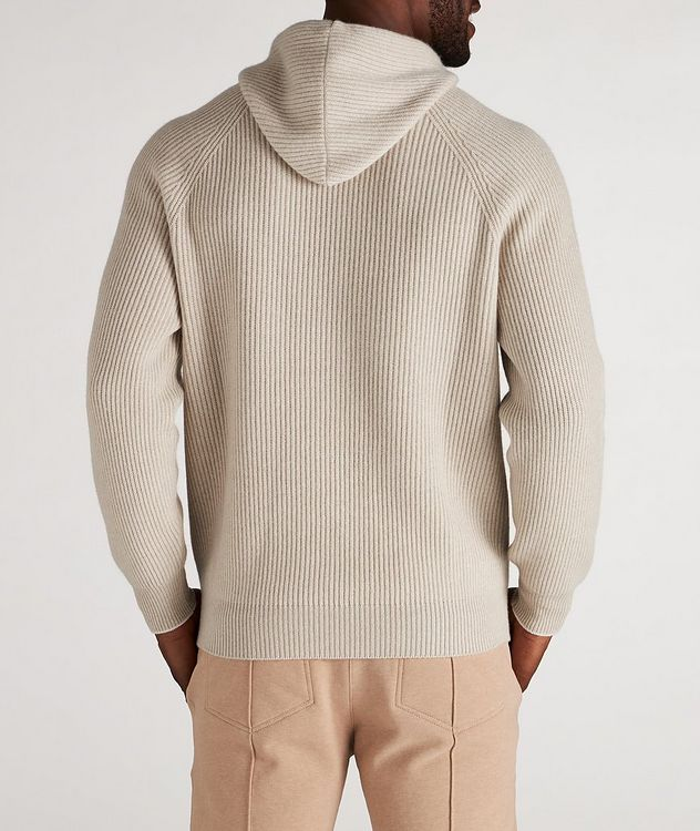 Knitted Cashmere Hoodie picture 3