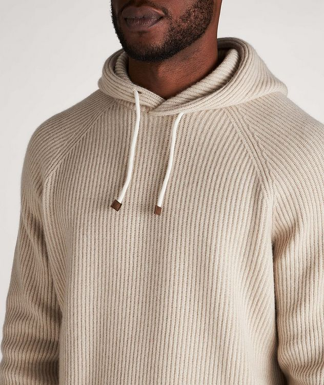 Knitted Cashmere Hoodie picture 4