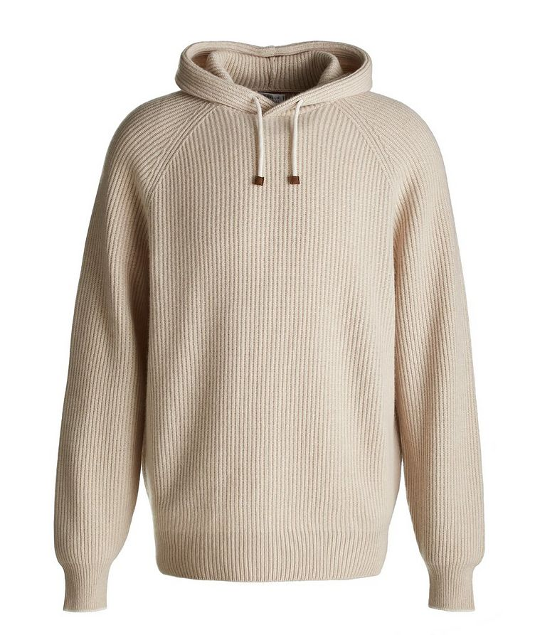 Knitted Cashmere Hoodie image 0