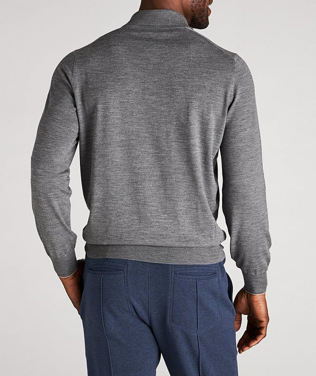 Long-Sleeve Wool-Cashmere Polo picture 3