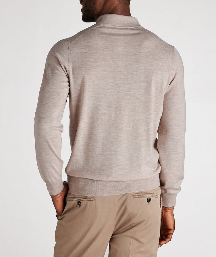 Long-Sleeve Wool-Cashmere Polo image 2