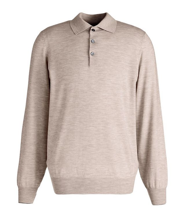 Long-Sleeve Wool-Cashmere Polo picture 1