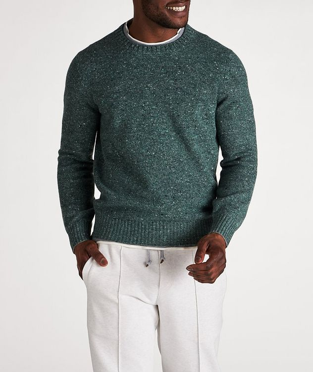 Wool-Cashmere Blend Crew Neck Sweater picture 2