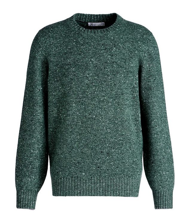 Wool-Cashmere Blend Crew Neck Sweater picture 1