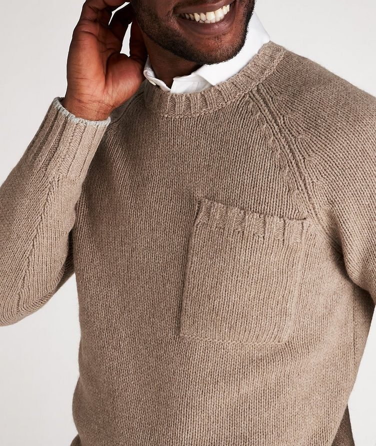 Alpaca-Yak Crew Neck Sweater image 3
