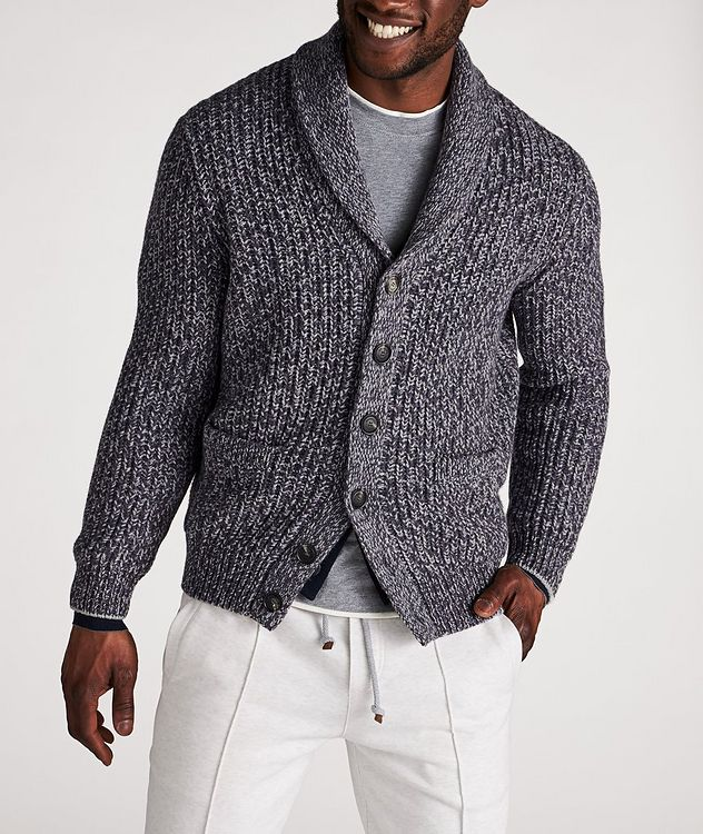 Cable-Knit Wool, Cashmere & Silk Cardigan picture 2