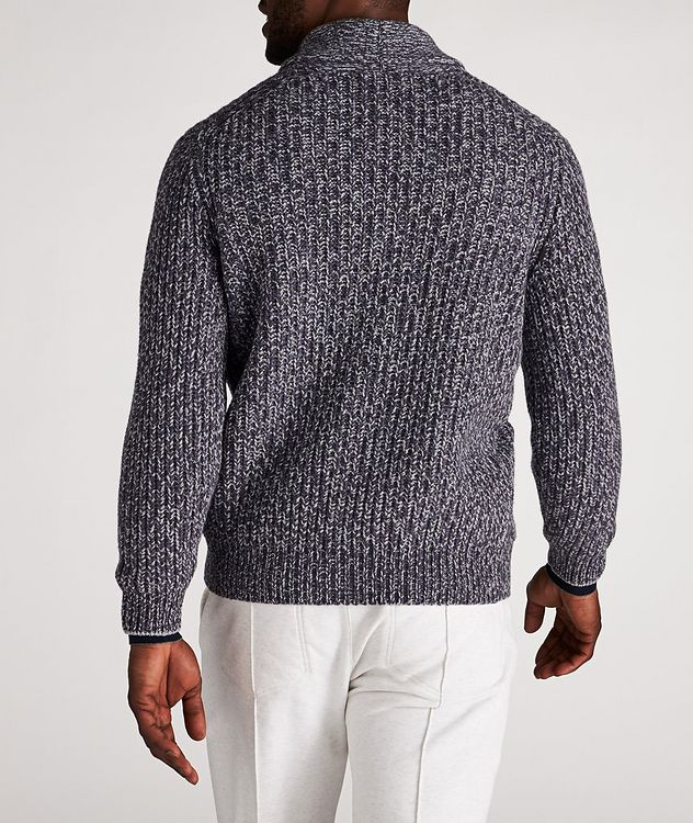 Cable-Knit Wool, Cashmere & Silk Cardigan picture 3