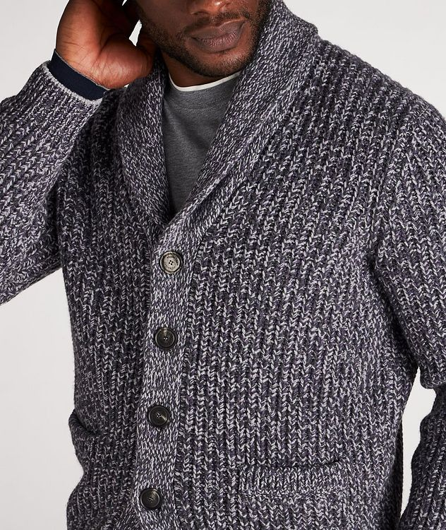 Cable-Knit Wool, Cashmere & Silk Cardigan picture 4