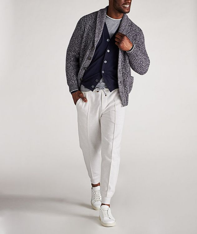 Cable-Knit Wool, Cashmere & Silk Cardigan picture 5