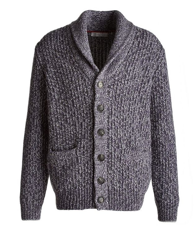 Cable-Knit Wool, Cashmere & Silk Cardigan picture 1