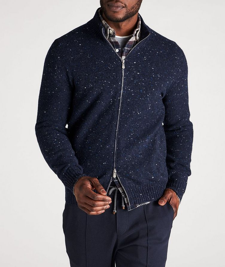 Zip-Up Wool-Cashmere Blend Sweater image 1