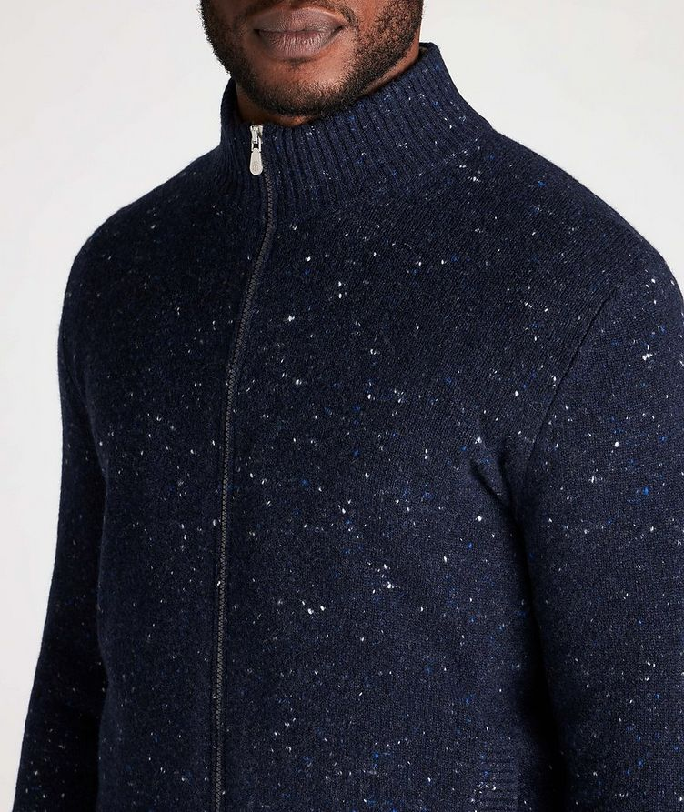 Zip-Up Wool-Cashmere Blend Sweater image 3